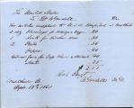 Supply Receipt 09-15-1863 United States