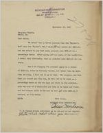 Letter: Chicago, Illinois to William M. Smith, Macon, Georgia, 1927 Sept. 24