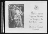 Missionary family holiday card, Chengdu, Sichuan, China, ca.1930
