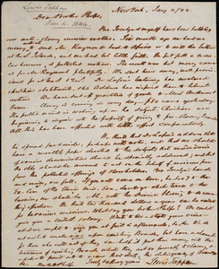 Letter from Lewis Tappan, New York, to Amos Augustus Phelps, 1844 January 4