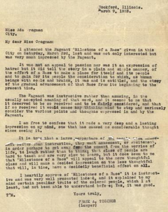 Letter from Frank Ticknor