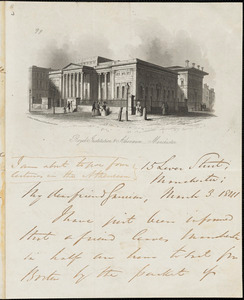 Letter from George Thompson, Manchester, [England], to William Lloyd Garrison, 1841 March 3