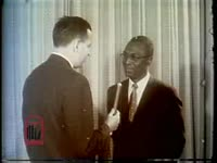 WSB-TV newsfilm clip of an interview with civil rights lawyer and city councilman Alexander Looby after his home was bombed in Nashville, Tennessee, 1960 April 19