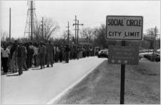 African American civil rights march from Social Circle to Monroe, Georgia, February 20, 1982