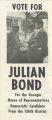 SAVF-Julian Bond (Social Action Vertical File, circa 1930-2002; Archives Main Stacks, Mss 577, Box 6, Folder 131)