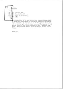 Fax from Mark H. McCormack to Fumiko Matsuki