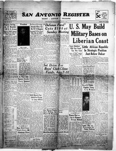 San Antonio Register (San Antonio, Tex.), Vol. 11, No. 27, Ed. 1 Friday, August 1, 1941 San Antonio Register