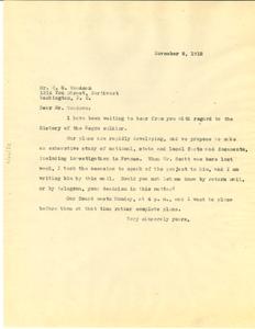 Letter from W. E. B. Du Bois to C. G. Woodson