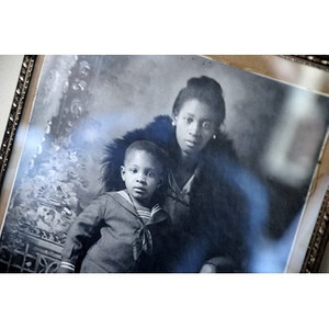Young African American woman and boy
