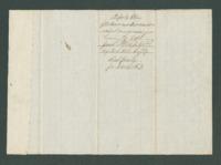 Ordnance return receipt for Capt. James E. White, 13th Michigan Infantry