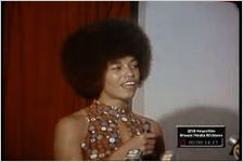 WSB-TV newsfilm clip of Angela Davis speaking at Wheat Street Baptist Church, Atlanta, Georgia, 1972 August 25