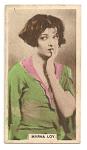 Myrna Loy cinema card