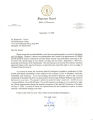 Letter from Justice Gary R. Wade to Benjamin L. Hooks