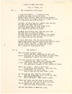 Lyrics of New York City