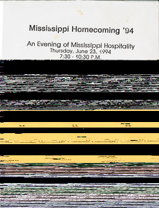 Poster for the Mississippi Homecoming, 1994