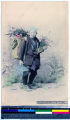 Portrait of an elderly Japanese flower merchant, Japan, ca. 1911