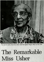 Ms. Bazoline Usher, civil rights pioneer, first African-American supervisor of the Atlanta Negro schools, Atlanta, Georgia, 1991?