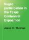 Negro participation in the Texas centennial exposition