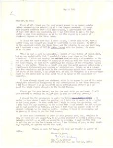 Letter from Barbara Lindsay to W. E. B. Du Bois