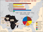 Origins of Africans deported to the United States, 1628-1860