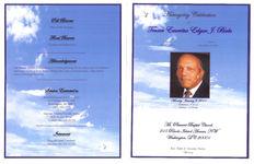 Homegoing celebration for Trustee Emeritus Edgar J. Birks, Monday, January 3, 2011, Mt. Pleasant Baptist Church, 215 Rhode Island Avenue NW, Washington D.C. 20001, Rev. Terry D. Streeter, pastor, officiating