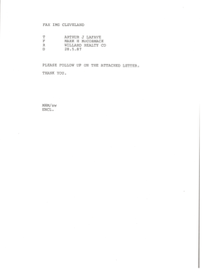 Fax from Mark H. McCormack to Arthur J. Lafave