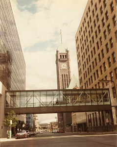 Fourth Street South from Second Avenue South looking toward the Metrodome, Minneapolis