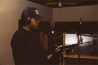 Easy AD of the Cold Crush Brothers recording a commercial for Funkmaster Flex, D&D Studios