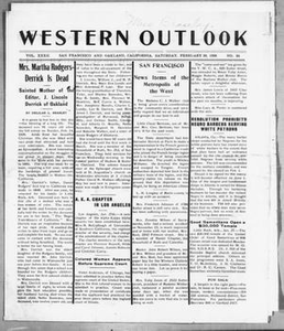 Western Outlook (San Francisco and Oakland, Calif.), Vol. 32, No. 24, Ed. 1 Saturday, February 20, 1926 The Western Outlook