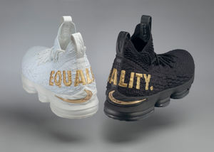 """""""Equality"""" basketball shoes game-worn by LeBron James"""