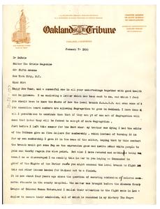 Letter from Delilah L. Beasley to W. E. B. Du Bois