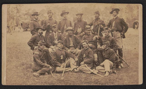 Group - brigade officers of horse artillery near Fair Oaks