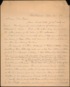 Letter from Edward A. Phelps, Rockland, to Worthington Chauncey Ford, Apr 30 - 99