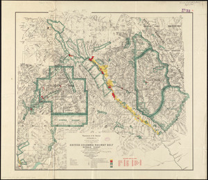 British Columbia railway belt: Donald sheet, west of fifth meridian : map showing disposition of lands