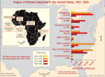 Origins of Africans deported to the United States, 1651-1850