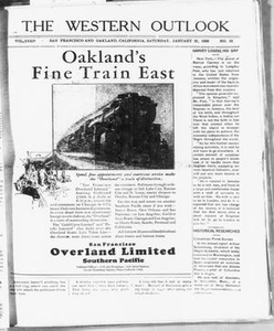 The Western Outlook (San Francisco and Oakland, Calif.), Vol. 34, No. 16, Ed. 1 Saturday, January 21, 1928 The Western Outlook