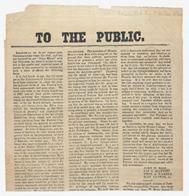 1862 Statement to the Public by Four Students