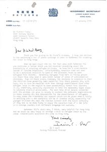 Letter from Ian C. Orr to Richard Avory