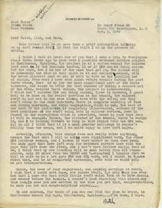 Letter from Charles Butcher to Caleb Foote, Dick Chase, and Russ Freeman