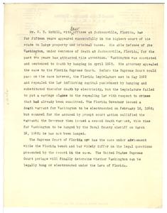 On S. D. McGill's defense of Abe Washington