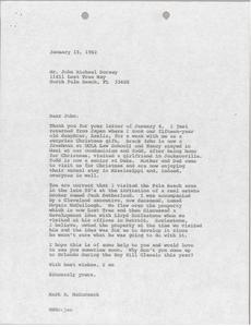 Letter from Mark H. McCormack to John Michael Dorsey