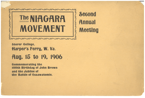 Niagara movement: Second annual meeting