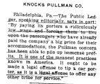 Knocks Pullman Company