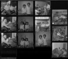 Set of negatives by Clinton Wright including C.E.P. Learning Center open house, Senator Cannon campaign at Aaron Williams, Andrew Jackson, Foster Johnson, Penguin Club grand opening, Joe & Love KVOV, and Voters League Office, 1970