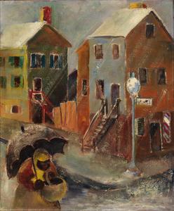 Georgetown Corner in the Rain