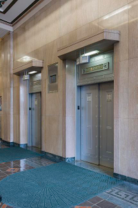 Elevator lobby. Potter Stewart U.S. Post Office and Courthouse, Cincinnati, Ohio