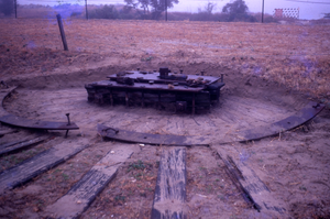 Damaged platform for 10inch cannon, Fort Moultrie, South Carolina