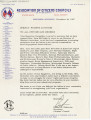 Letter from Bob to All Officers and Members