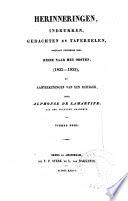 Herinneringen, indrukken, gedachten en tafereelen, opgedaan gedurende eene reize naar het Oosten (1832-1833), of Aanteekeningen van een reiziger /