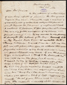 Letter from Anna Paul, Northampton, [Mass.], to William Lloyd Garrison, Nov[ember] 21 / [18]50